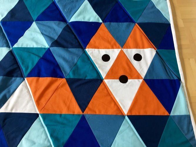 Makerist - Patchworkdecke aus Dreiecken - Nähprojekte - 2