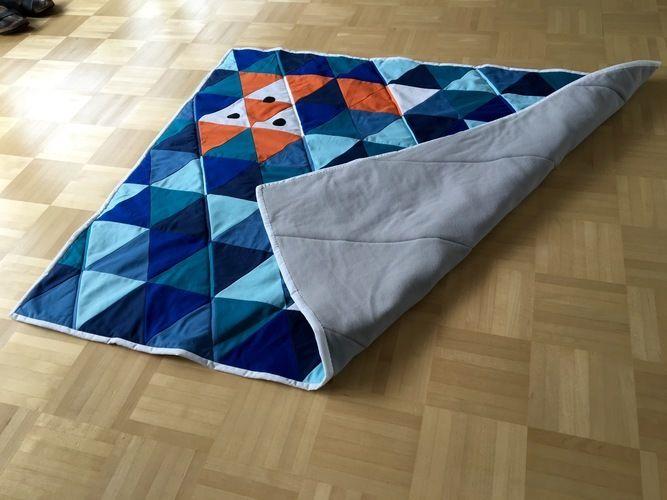 Makerist - Patchworkdecke aus Dreiecken - Nähprojekte - 3