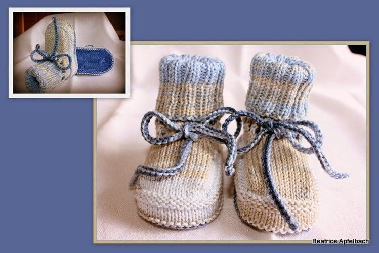 Makerist - leichte Babybooties  - Strickprojekte - 1