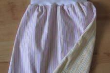Makerist - rosa Streifen + gelbe Streifen + Bündchen = fertig - 1