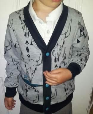 Makerist - coolit kleenit Jäckchen - Cardigan ROM - 1
