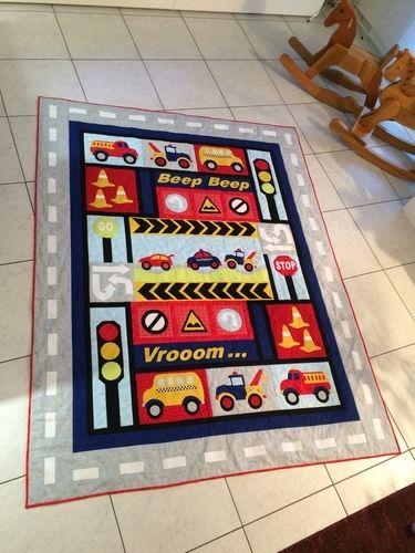 Makerist - Fahrzeuge-Quilt - Patchwork-Projekte - 1