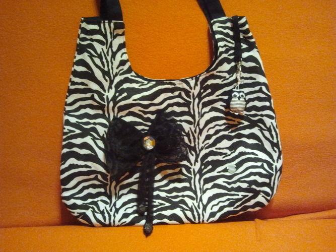 Makerist - Tasche in schwarz/weiß - Nähprojekte - 1