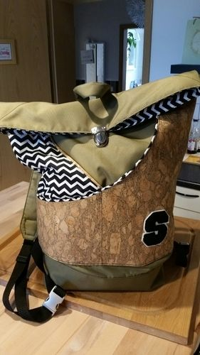 Makerist - Rucksack aus Kork und Teflon - Nähprojekte - 1