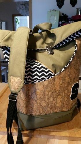 Makerist - Rucksack aus Kork und Teflon - Nähprojekte - 2