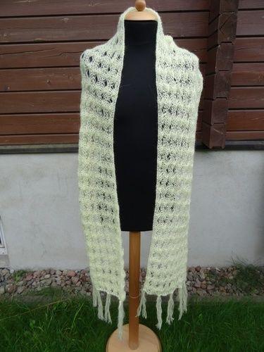 Makerist - wuderschöne Stola aus Mohairwolle - Strickprojekte - 2