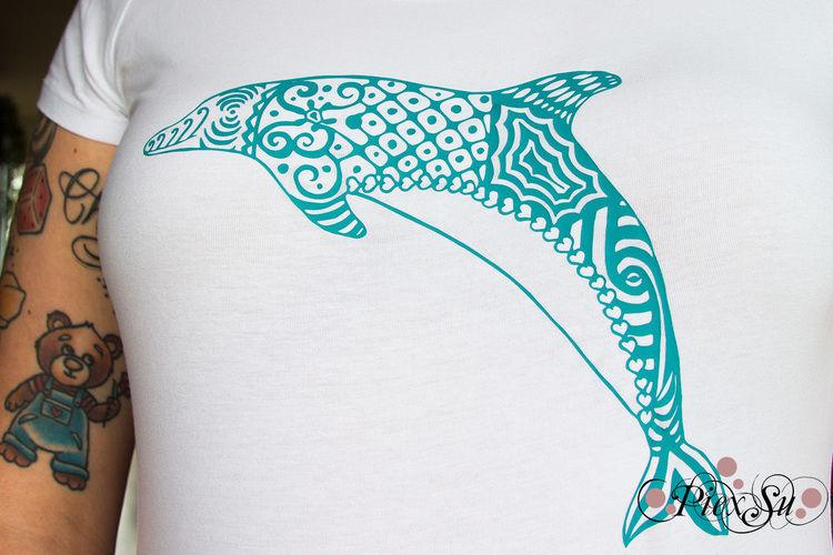 Makerist - Delphin aus dem Plotterdatei Set Mitten im Meer - DIY-Projekte - 1