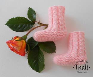Makerist - Chaussons bouton de rose, pour prématuré - 1