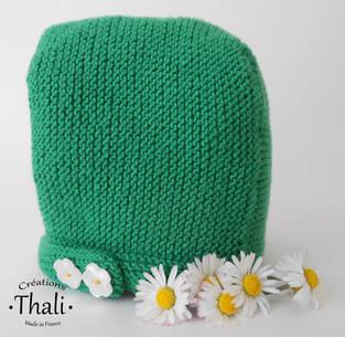 Makerist - Béguin pâquerette, bonnet bébé - 1