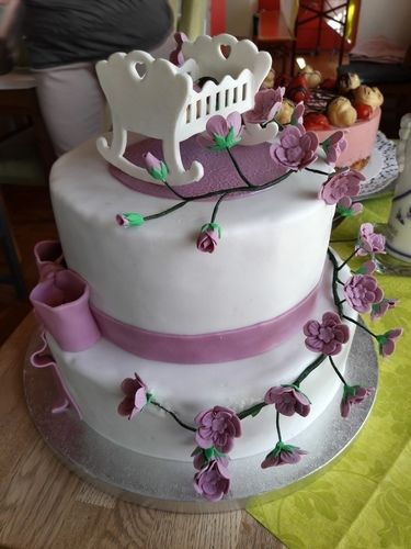 Makerist - Tauftorte für Jule Sophie - Torten, Cake Pops und Cupcakes - 3