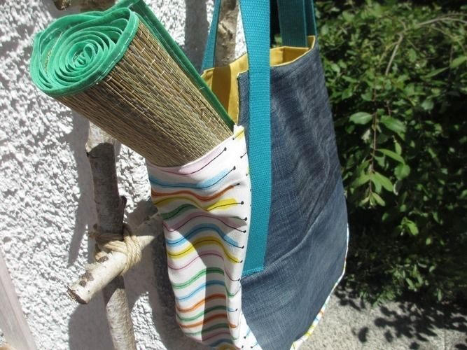 Makerist - Jeans Upcycling - eine Sommer-Bade-Tasche - Nähprojekte - 1
