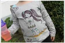 Makerist - Shirt Marlene mit Manga-Girl´s - 1