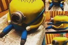 Makerist - Minion 3D Torte - 1