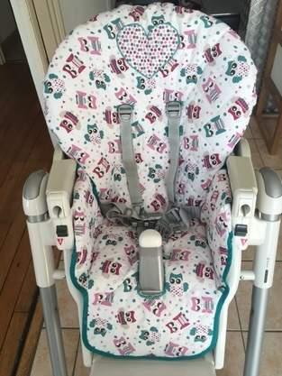 Housse chaise haute prima pappa diner peg perego for Housse de rechange peg perego prima pappa
