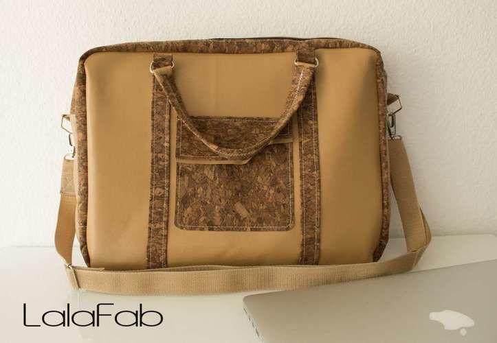Makerist - Notebooktasche aus Kork und Leder - Nähprojekte - 3