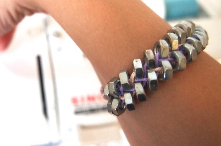 Makerist - Armband aus Schraubenmuttern - DIY-Projekte - 1