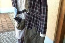 Makerist - Puzzelkleid, zusammen gesetzt aus 6 Herrenhemden und einem Kleid . Für mich selbst, mein allererstes Kleid . Die Ärmel und die Knopfleisten wollte ich unbedingt mit einarbeiten. - 1
