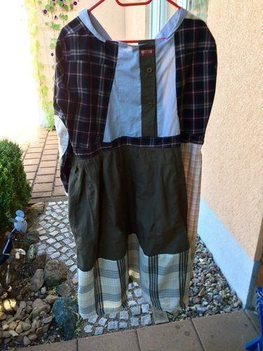 Makerist - Puzzelkleid, zusammen gesetzt aus 6 Herrenhemden und einem Kleid . Für mich selbst, mein allererstes Kleid . Die Ärmel und die Knopfleisten wollte ich unbedingt mit einarbeiten. - Nähprojekte - 2