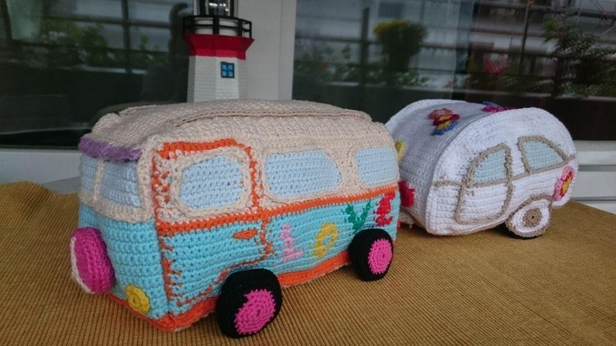 Makerist - Hippie Bus mit Wohnwagen - Häkelprojekte - 1