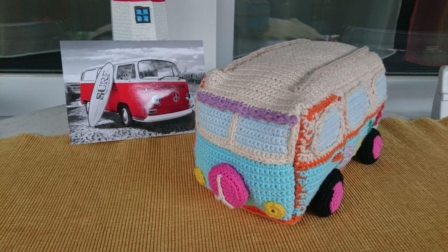 Makerist - Hippie Bus mit Wohnwagen - Häkelprojekte - 2