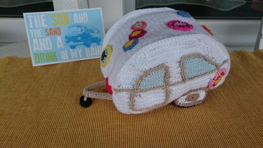 Makerist - Hippie Bus mit Wohnwagen - Häkelprojekte - 3