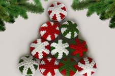 Makerist - Weihnachtskugeln mit einer Schneeflocke - 1