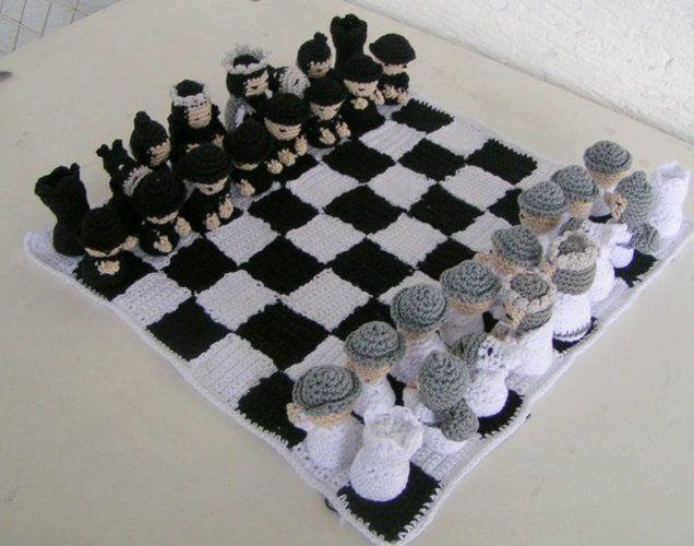 Makerist - Schachspiel Samurai Häkelanleitung - Häkelprojekte - 1