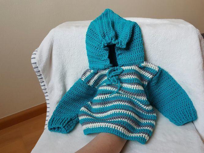 Makerist - Pullover mit Zwergenmütze. - Häkelprojekte - 1