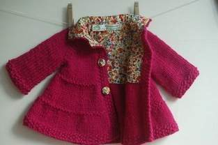 Makerist - Liberty-lined tiered baby coat - 1