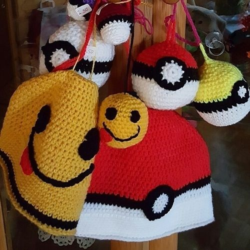 Makerist - Pokemon-Haube mit Pokeball - Häkelprojekte - 1