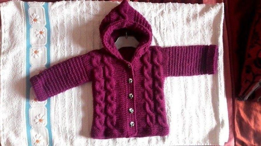 5198b9863a03 veste à capuche pour bébé 1 an  de christiane - Créations de tricot