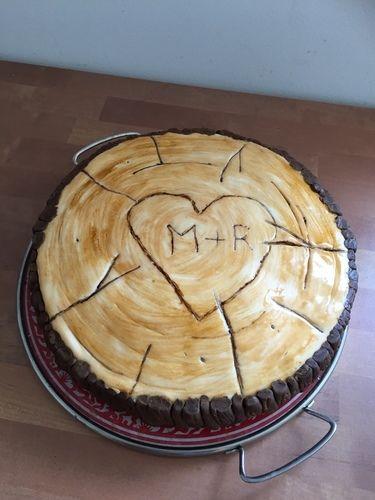 Makerist - Vanille-Nuss-Torte in Holzscheibenoptik - Torten, Cake Pops und Cupcakes - 1