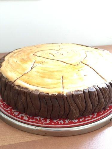Makerist - Vanille-Nuss-Torte in Holzscheibenoptik - Torten, Cake Pops und Cupcakes - 2