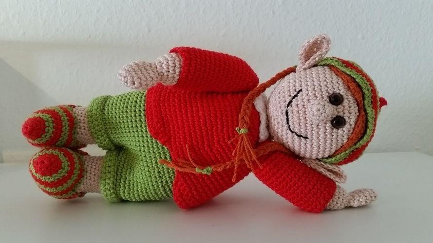 Makerist - Elena Elf, die Weihnachtselfe  - Häkelprojekte - 1