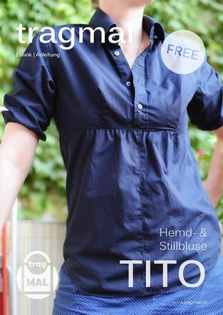 Makerist - Freebook für eine Damenbluse aus einem Harrenhemd - 1