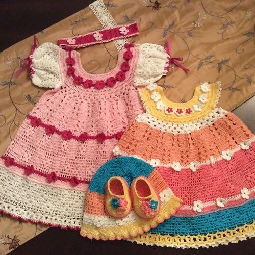 Makerist - baby josie summer dress, hat, headband and booties - Crochet Showcase - 1