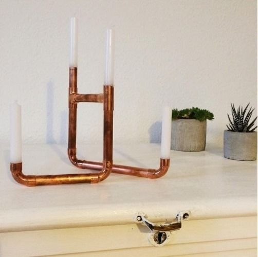 Makerist - Kerzenständer aus Kupferrohr - DIY-Projekte - 1