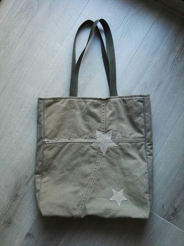 Makerist - Tasche Grün/Beige  - Nähprojekte - 2