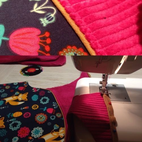 Makerist - Lille Wooldlöper aus Cord, Fleece und Softshell für mein kleines Mädchen in Größe 80 - Nähprojekte - 3