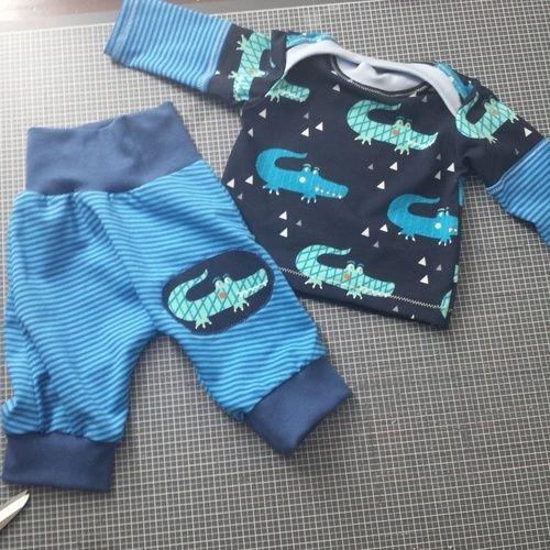 Makerist - Klimperkleine checkerhose und regenbogenbody als shirt.  - Nähprojekte - 1