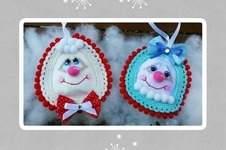 """Makerist - Amigurumi Weihnachtsschmuck """"Herr und Frau Schneepi"""" 10 cm Groß - 1"""