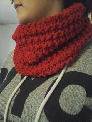Makerist - SNOOD tricoter en laine acrylique (utilisée en double) aux aiguilles numéro 9  - 1