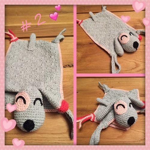 Makerist - Schnuffeltuch Hund  - Häkelprojekte - 1
