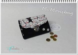 """Makerist - Geldbeutel """"Ms.Monibag"""" Katzenstyle - 1"""