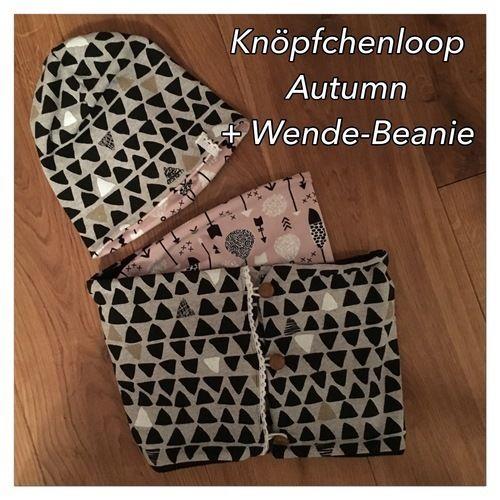Makerist - Knöpfchenloop Autumn mit passender Wende-Beanie - Nähprojekte - 1