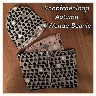 Makerist - Knöpfchenloop Autumn mit passender Wende-Beanie - 1