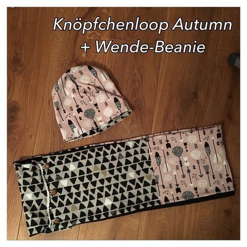 Makerist - Knöpfchenloop Autumn mit passender Wende-Beanie - Nähprojekte - 2