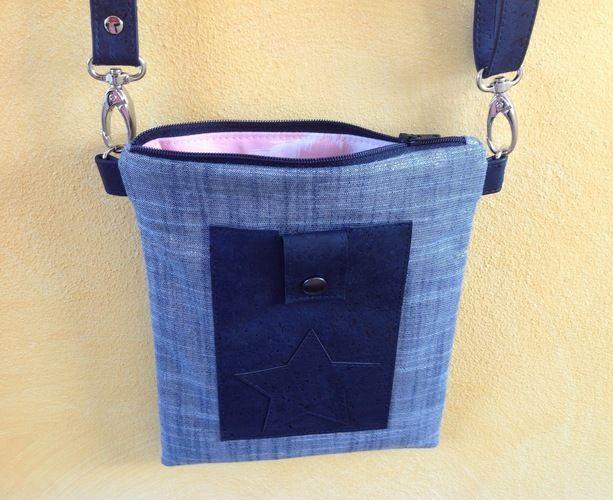 """Makerist - Tasche """"Meret"""" Schnitt von min ziari aus Glitzer-Baumwolle und Kork - Nähprojekte - 1"""