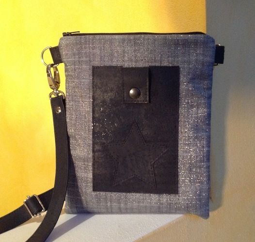 """Makerist - Tasche """"Meret"""" Schnitt von min ziari aus Glitzer-Baumwolle und Kork - Nähprojekte - 2"""