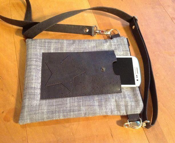 """Makerist - Tasche """"Meret"""" Schnitt von min ziari aus Glitzer-Baumwolle und Kork - Nähprojekte - 3"""